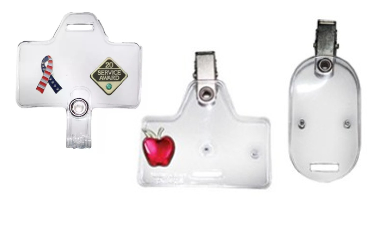 ID CARD, BADGE AND PIN HOLDERS